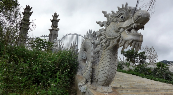 This entrance to a house near Dalat was impressively ornate, but the accompanying property looked long abandoned.