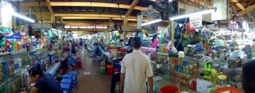 """The madness of District 1's Ben Thanh market. Most tourism books and websites tout this indoor/outdoor market as a """"don't miss"""" destination, but for the most part it seemed full of overpriced knickknacks and aggressive ware-barkers who will only bargain so low — meaning, if they're not still getting at least a 50 percent markup on whatever product they're pushing, they'll let you walk away. Best to visit the outlying districts and find the same product for half the price."""