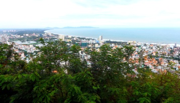 View of Vung Tau from the base of the lighthouse.