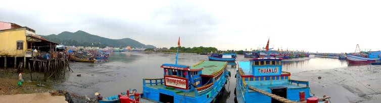 There were a lot of boats in Vung Tau, but many of them appeared long idle.