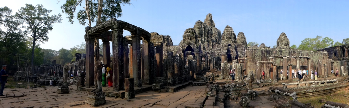 More weathered and worn than Angkor Wat, Bayon was less impressive in its scale and grandeur but no less awe-inspiring.