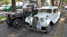 A couple of original military Jeeps were on hand, plus this classic remnant from the French colonial era.