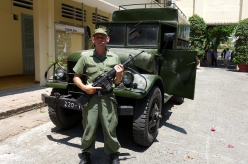 Yup, that's me: poorly costumed and (with a borrowed gun) looking more important than my line-less role warranted.
